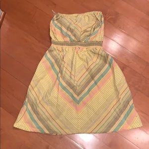 Mission strapless cotton sundress yellow XS